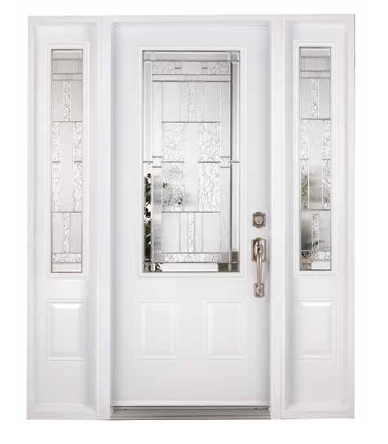 white entrance door
